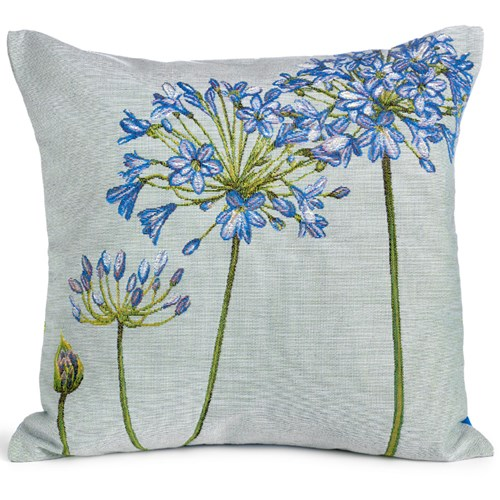 Agapanthus Tapestry Pillow, Square with Bud