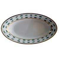 Royal Limoges La Bocca Green Oval Platter
