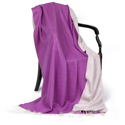 Emma Cashmere Throw, Purple