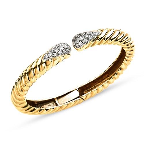 18k Yellow Gold Large Diamond Bracelet