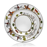 Wedgwood Hunt Scene Rim Soup Bowl