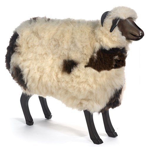 Thibar Ram with Natural Brown and White Fleece