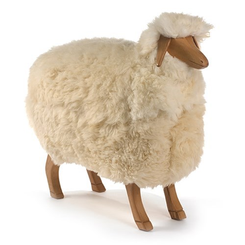 Natural Oak Sheep Footstool, Ewe