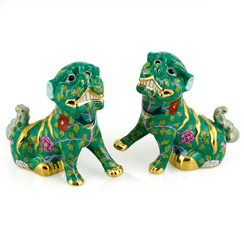 Herend Reserve Pair of Imperial Foo Dogs