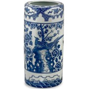 Blue & White Porcelain Umbrella Stand