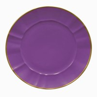 Anna Weatherley Rippled Charger, Lavender