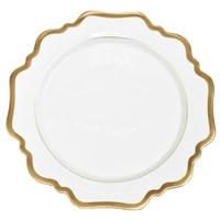 Anna Weatherley Antique White with Gold Dinner Plate