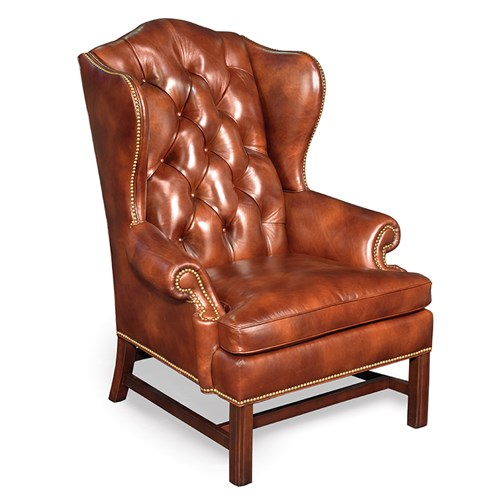 Squire's Tufted Chair, Document Copper