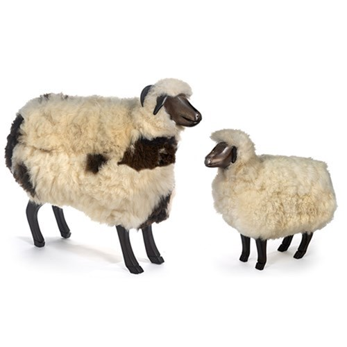 Natural Beechwood Sheep Footrests
