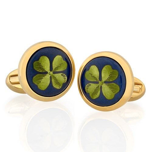 Halcyon Days Clover Cufflinks