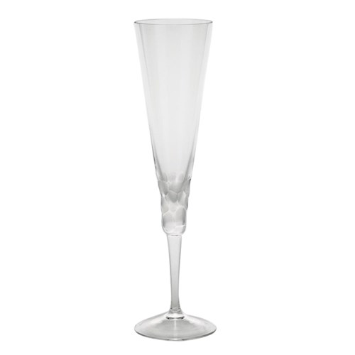 Moser Pebbles Champagne Flute, Clear