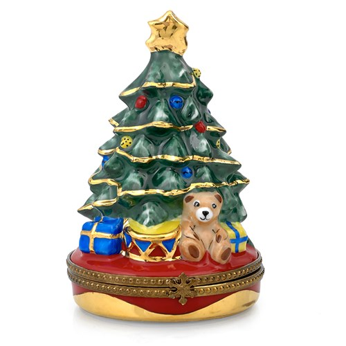 Christmas Tree with Bear Limoges Box