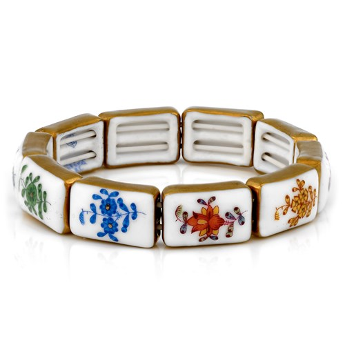 Herend Ten-Link Bracelet, Mixed Chinese Bouquet