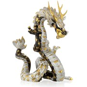 Herend Reserve Dragon, Gold, White & Black
