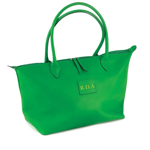 Leather Safari Bag Small Green
