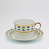 Royal Limoges La Bocca Green Tea Saucer
