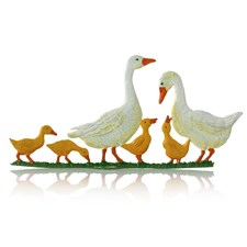 Pewter White Goose Family