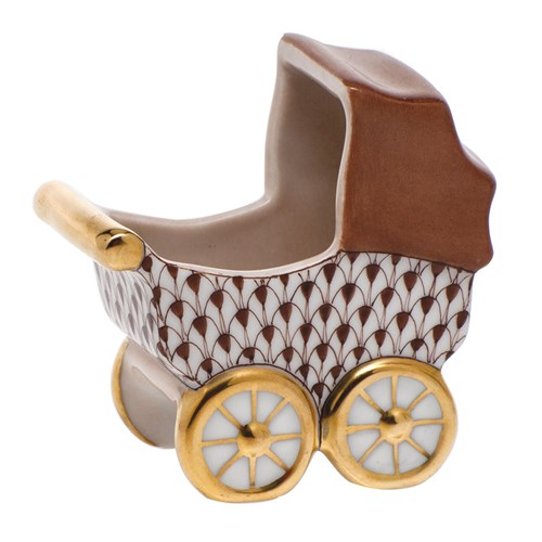 Herend Baby Carriage, Chocolate