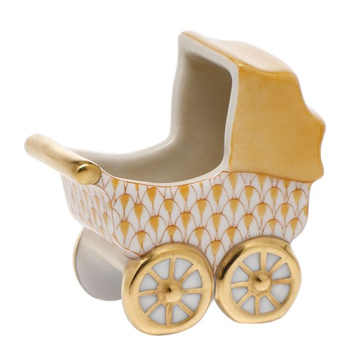 Herend Baby Carriage, Butterscotch