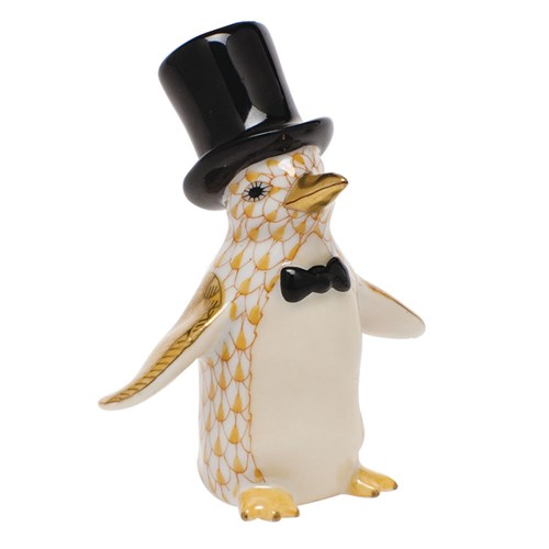 Herend Tuxedo Penguin, Butterscotch