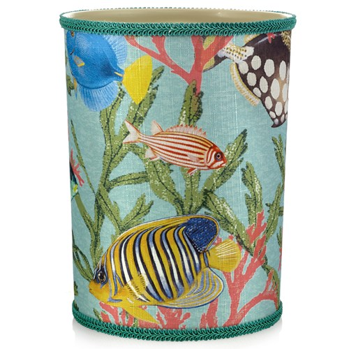 Tropical Fish Wastebasket