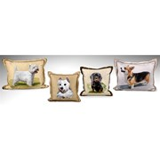 Handpainted Dog Silk Pillows