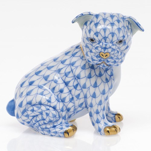 Herend Bulldog Puppy, Blue