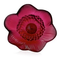 Lalique Anemone Flower, Red