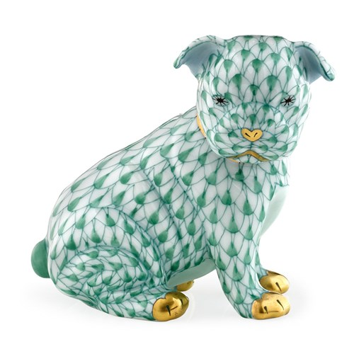 Herend Bulldog Puppy, Green