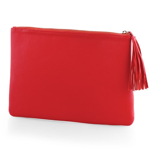 Small Carrie Clutch, Red