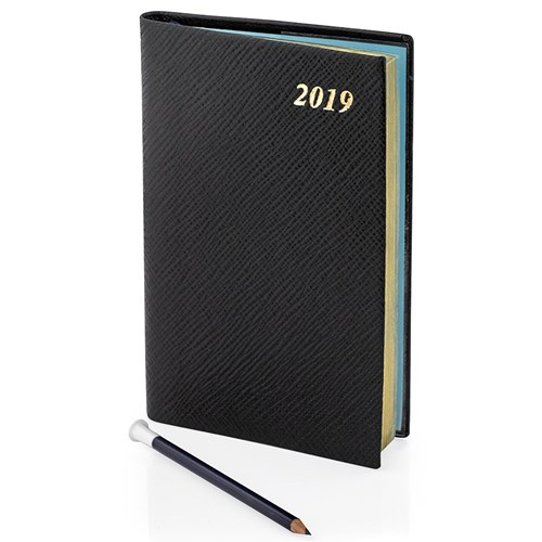 2019 Diary with Pencil, Black