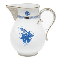 Herend Chinese Bouquet Blue Pitcher, Large