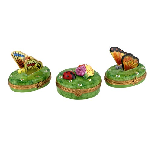 Butterfly and Ladybug Limoges Boxes