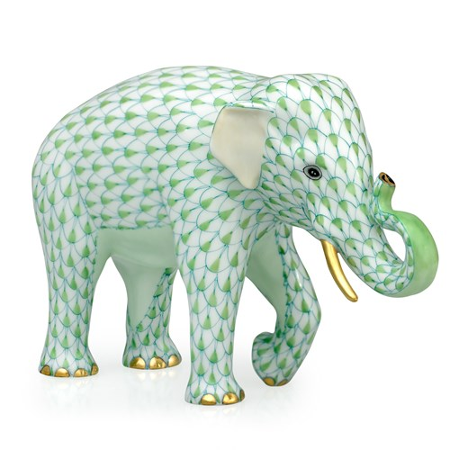Herend Endangered Species Asian Elephant, Key Lime