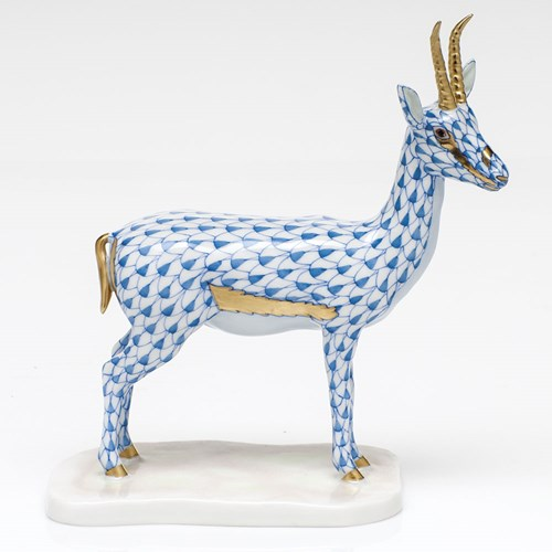 Herend Endangered Species Collection Cuvier's Gazelle, Blue