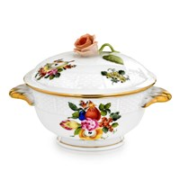 Herend Fruits & Flowers Boullion Cup with Lid