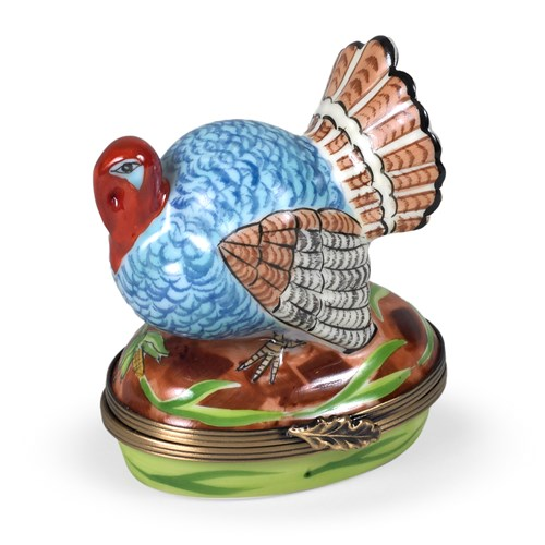 Blue Turkey Limoges Box