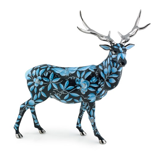 Herend Reserve Elk, Black, Blue & Platinum