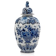 Royal Delft Blue Ginger Jar with Finial
