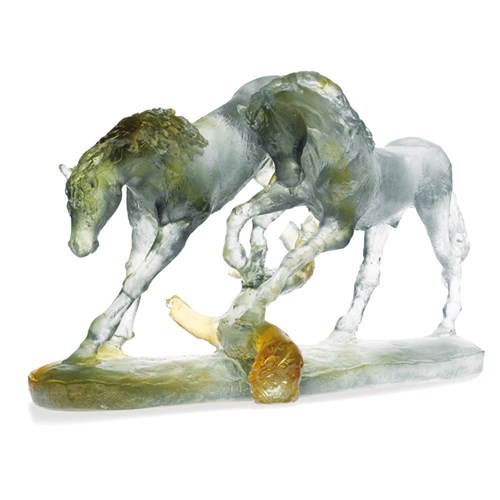 Daum Crystal Love Horses, Limited Edition