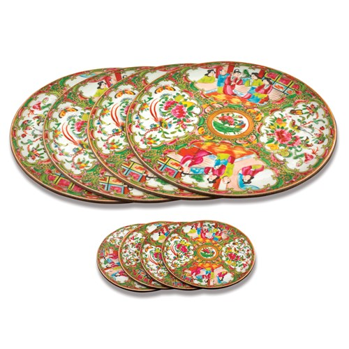 Chinese Famille Rose Mats & Coasters