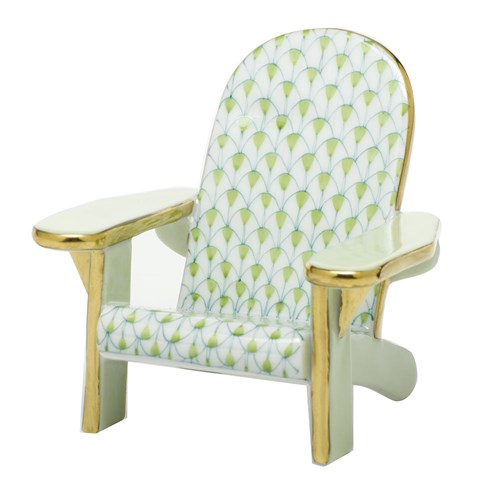Herend Adirondack Chair Figurine, Key lime