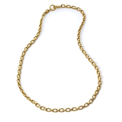 18k Gold Oval Link Chain
