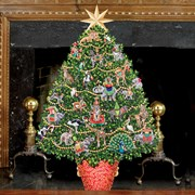 Trompe l'Oeil Animal Kingdom Christmas Tree Firescreen