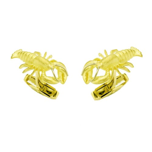 18k Gold Lobster Cufflinks