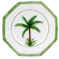 Ceramic Palm China Bread & Butter Plate