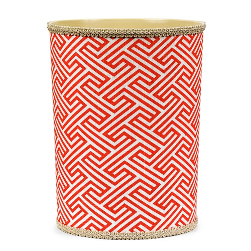 Infinity Coral Wastebasket & Tissue Box Cover