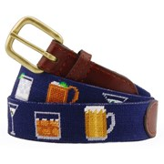 Gentleman's Drinks Needlepoint Belt