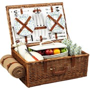 Rivington Picnic Basket for Four with Blanket