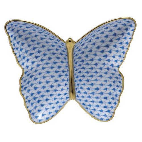 Herend Butterfly Dish, Blue